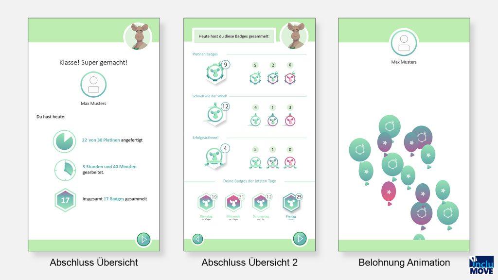 Abbildung 3 Interface Design - Abschluss Arbeitstag