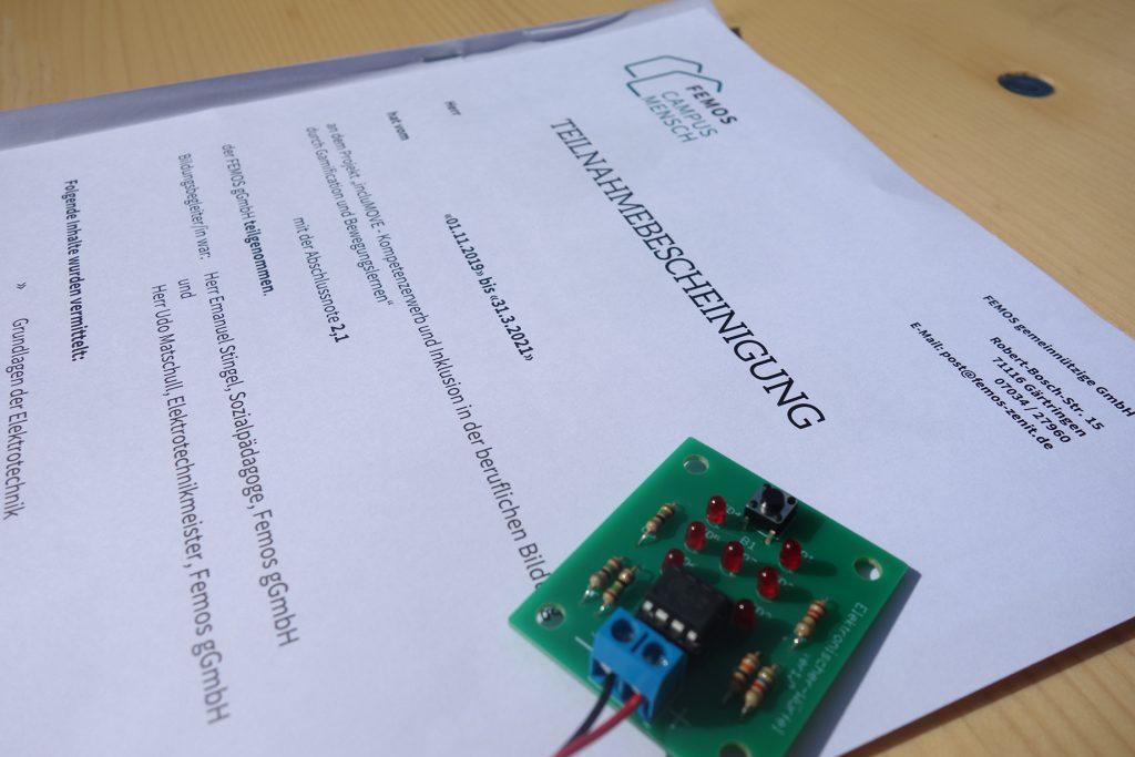Zertifikatsübergabe & Projektabschlussveranstaltung